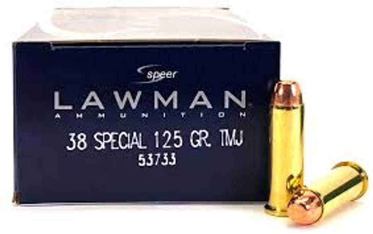 SPEER LAWMAN 38SPL 125GR TMJ (53733) - 50 ROUNDS