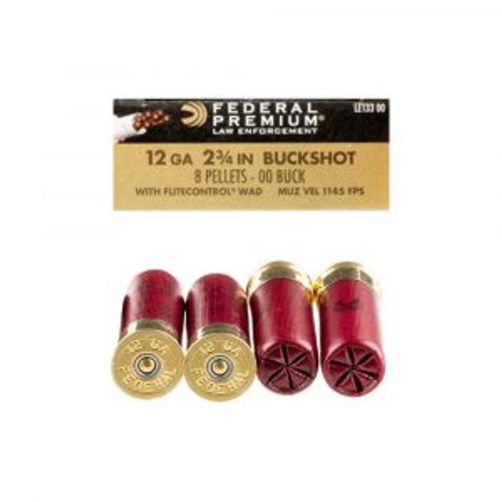 Federal Tactical 00 8 Ball Buckshot - 5 Round Box LE133-00