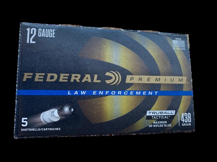 "Federal Law Enforcement 12 Gauge Ammo 2-3/4"" Tactical® TruBall® Rifled Slug Low Recoil - 5 ROUND BOX LEB127 LRS"