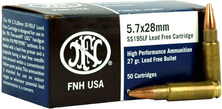 FN 5.7x28mm 27 Grain Jacketed Hollow Point Lead-Free SS195LF