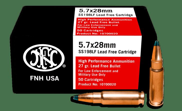 FNH 5.7X28MM Lead Free Green Tip 27GR  50 Round Box SS198LF