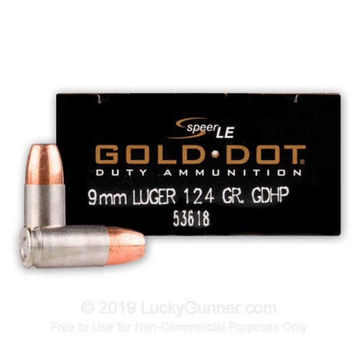 SPEER GOLD DOT 124gr 9mm (53618) - 50 ROUNDS