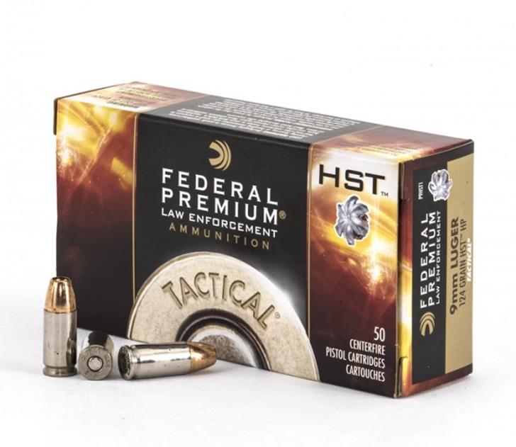 FEDERAL PREMIUM LAW ENFORCEMENT TACTICAL HST 124grn 9mm P9HST1 - 50 ROUNDS
