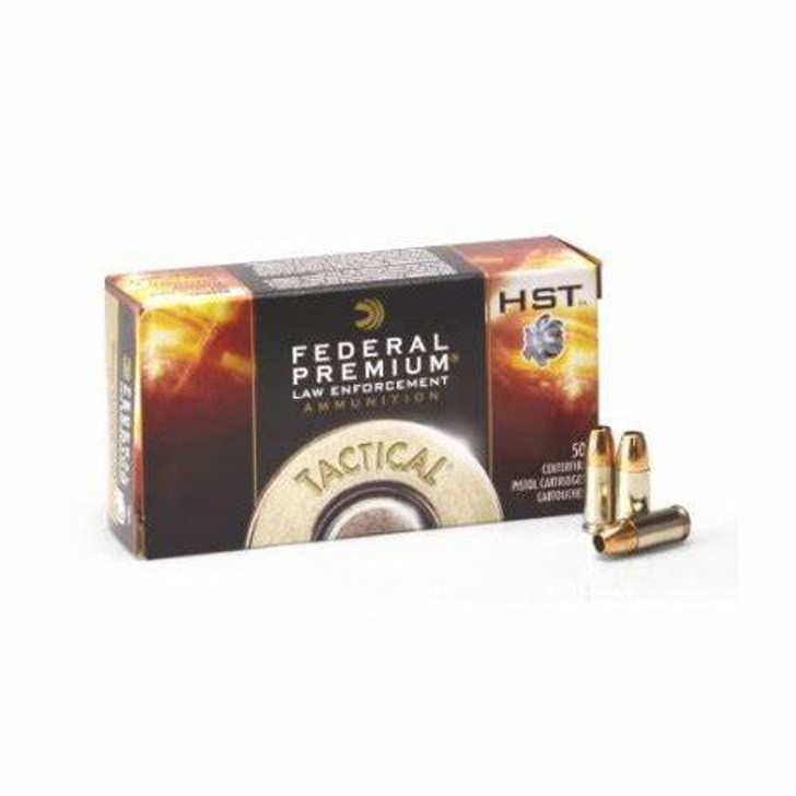 FEDERAL PREMIUM TACTICAL LAW ENFORCEMENT HST 147grn 9mm +P P9HST4 P9HST4 - 50 ROUNDS
