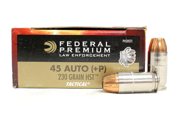 FEDERAL PREMIUM TACTICAL HST 230grn 45ACP +P (P45HST1) - 50 ROUNDS