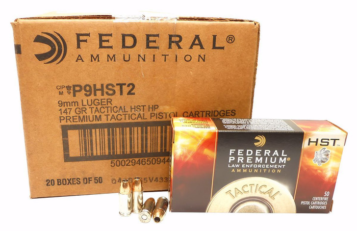 FEDERAL PREMIUM TACTICAL HST 147grn 9mm (P9HST2) - 1000 ROUNDS
