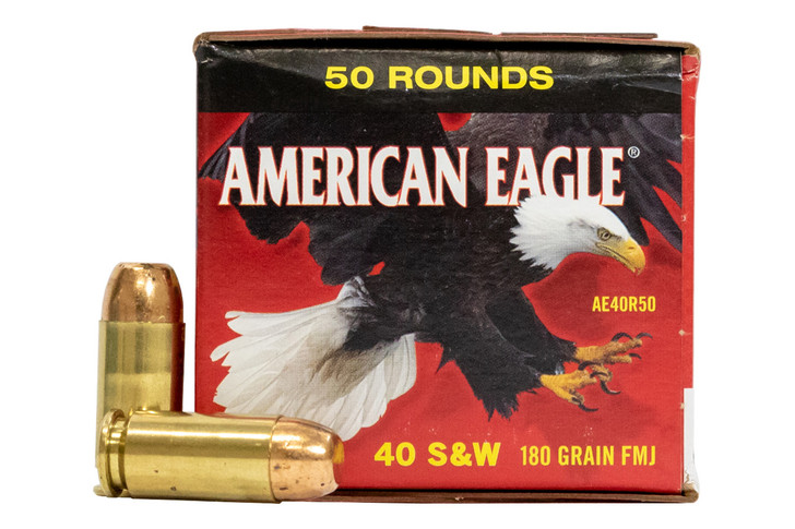 FEDERAL AMERICAN EAGLE 40 S&W 180GR FMJ (AE40R50) - 50 Rounds