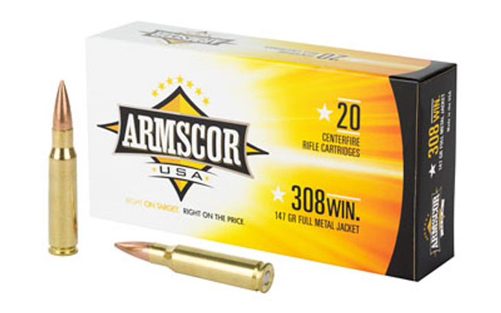 ARMSCOR 308 WIN 147GR Full Metal Jacket - 20 Rounds AC 308-1N