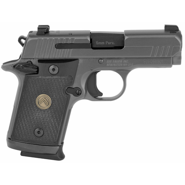 "SIG Sauer P938 Legion Micro-Compact 9mm Luger Semi Auto Pistol 3"" Barrel 7 Rounds X-RAY3 Sights G10 Grips Legion Gray Finish 938-9-LEGION"
