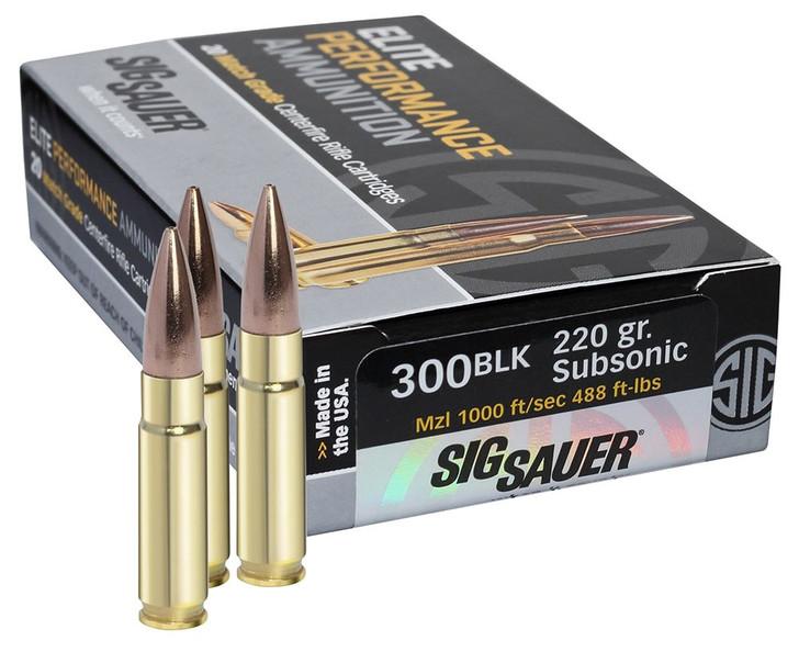 Sig Sauer E300A2-20 .300 Black 220 OTM ELT 20/25