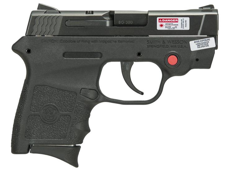 "Smith & Wesson 10265 M&P Bodyguard 380 Crimson Trace 380 Automatic Colt Pistol (ACP) Double 2.75"" 6+1 Black Polymer Grip/Frame Black Armornite Stainless Steel Slide"