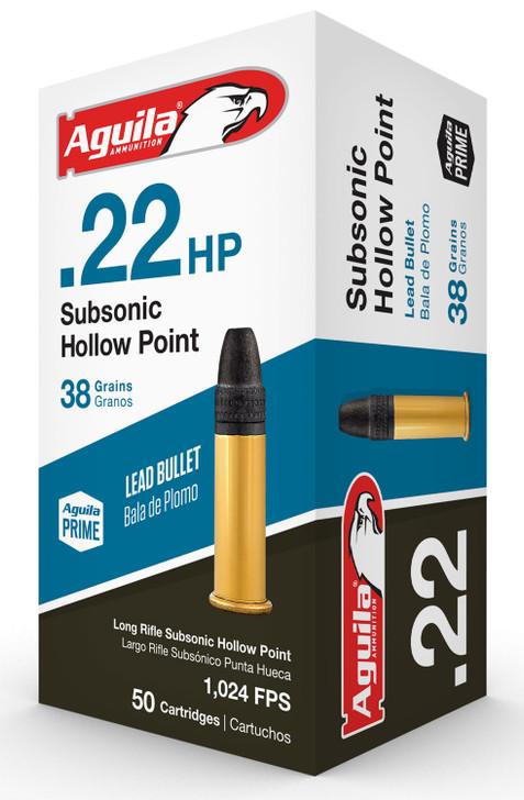 AGUILA 22 HP LR SUBSONIC HOLLOW POINT 38 GR 1B222268