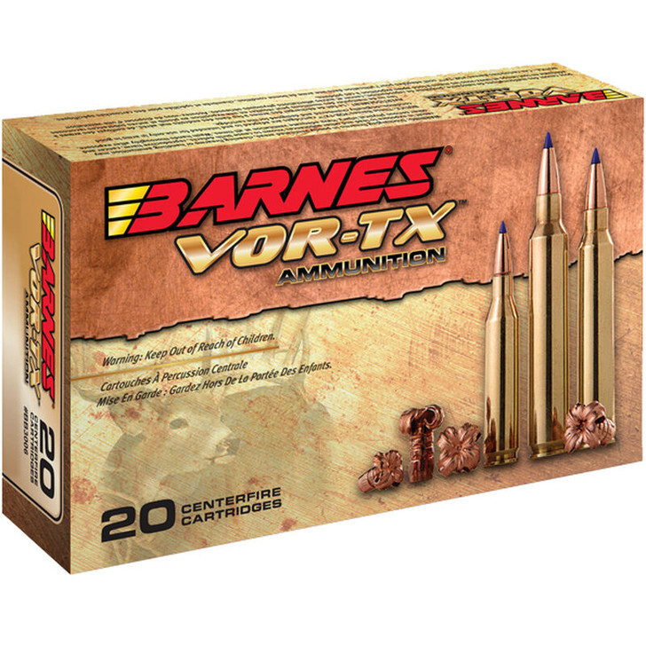 Barnes VOR-TX 6.5 Creedmoor Ammunition 20 Rounds 120 Grain Barnes Tipped TSX Boat Tail Lead Free Projectile 30815