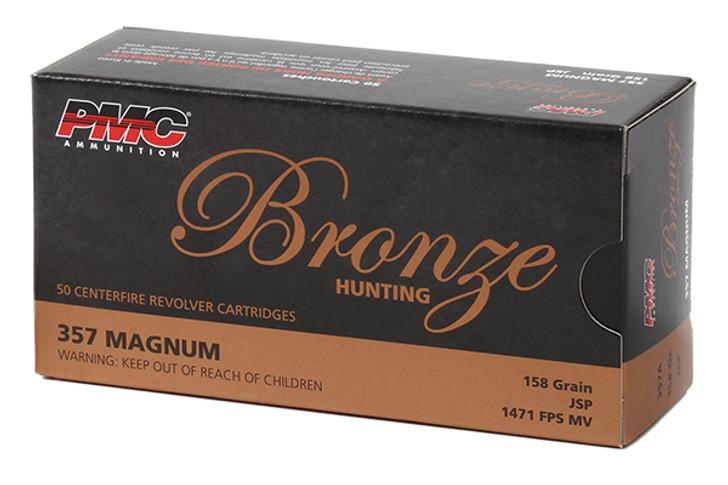 PMC Bronze Handgun Ammunition .357 Mag 158 gr JSP 1471 fps 357A 50/box