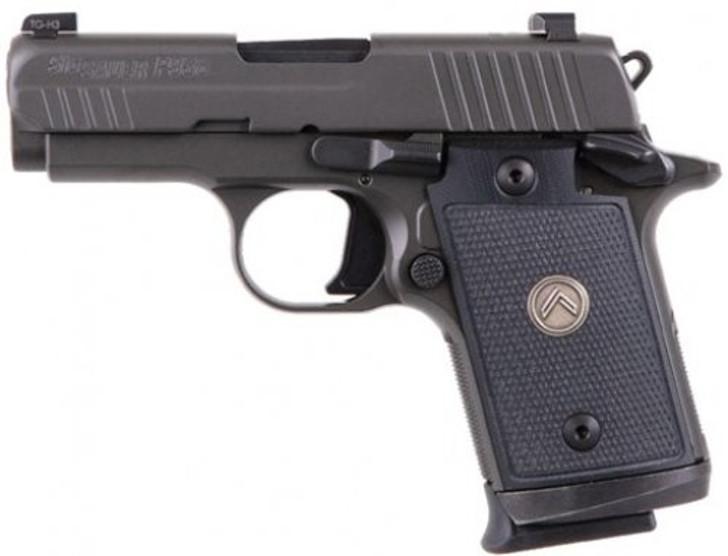 "SIG Sauer P938 Legion Micro-Compact 9mm Luger Semi Auto Pistol 3"" Barrel 7+1 Rounds X-RAY3 Sights G10 Grips Legion Gray Finish MA Compliant 938M-9-LEGION"