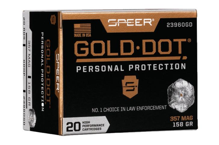 Speer GOLD DOT 357 158GR GDHP 23960GD