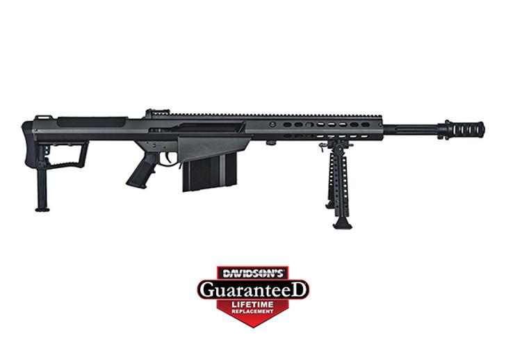 "Barrett M107A1 Semi Auto Rifle .50 BMG 20"" Fluted Barrel 10 Rounds Suppressor Ready Muzzle Brake 18"" Integrated Rail with 27 MOA Elevation Black Cerakote Receiver 14084"
