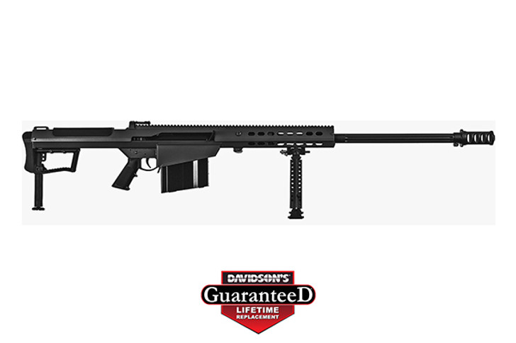 "Barrett M107A1 Semi Auto Rifle .50 BMG 29"" Fluted Barrel 10 Rounds Suppressor Ready Muzzle Brake 18"" Integrated Rail with 27 MOA Elevation Black Cerakote Receiver 14085"