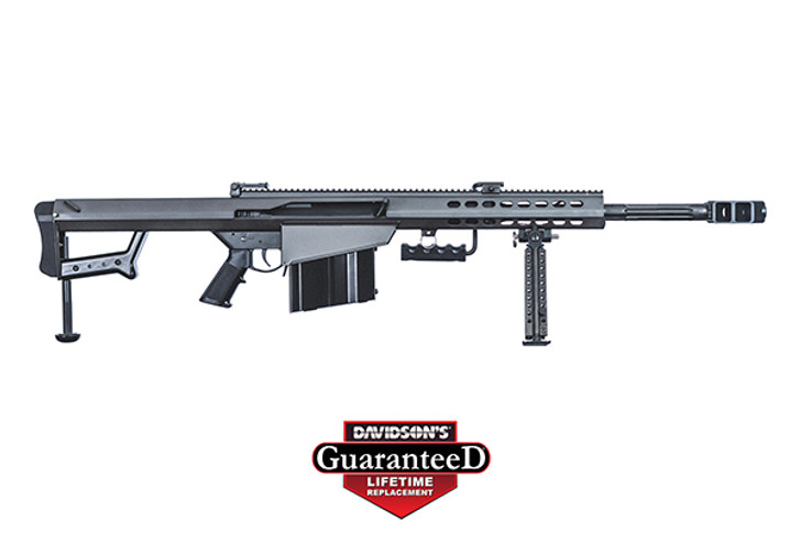 "Barrett M82A1 Semi Auto Rifle .50 BMG 20"" Fluted Barrel 10 Rounds Flip Up Iron Sights Lightweight Quick Detach Bipod Arrowhead Muzzle Brake Manganese Phosphate Finish 13318"