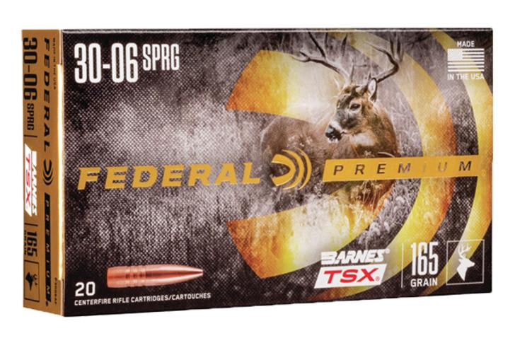 Federal 30-06 Springfield 165GR BARNES TSX P3006AF