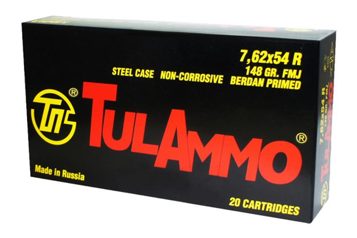 TulAmmo 7.62X54R 148GR FMJ TA762548 20 Rounds