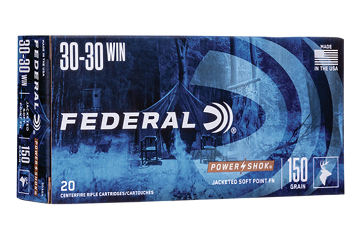 Federal Power-Shok 30-30 Winchester Ammo 150 Grain Soft Point Flat Nose 3030A