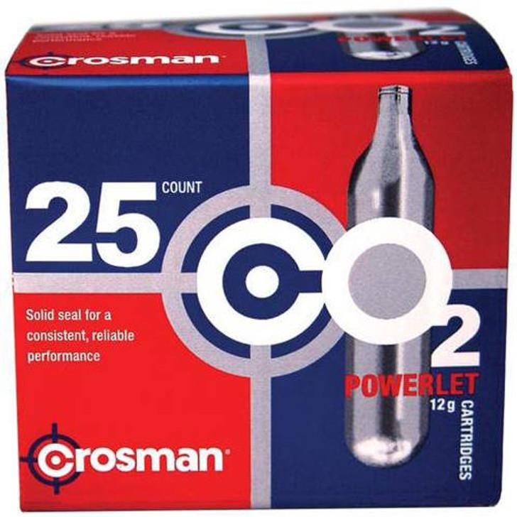 Crosman, Powerlet CO2 Cartridges, 25 Pack 22311