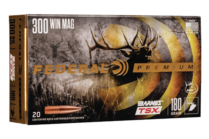 Federal FDR .300 Winchester Magnum 180GR BARNES TSX P300WP