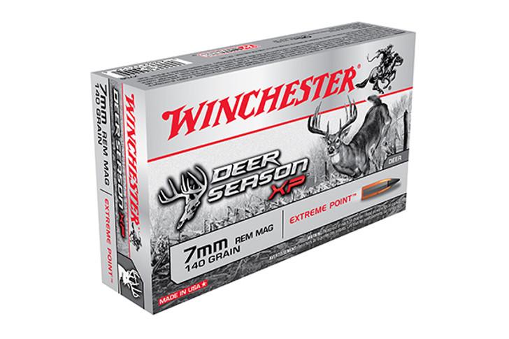 Winchester 7mm Remington Magnum Ammunition 20 Rounds Deer Season XP PT 140 Grains X7DS