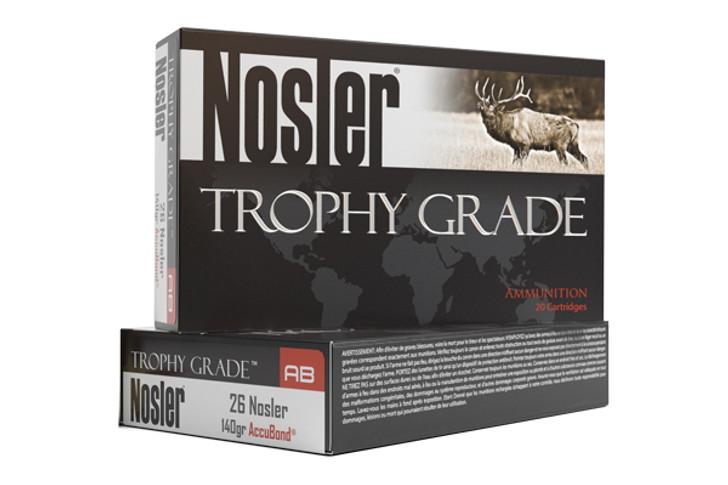 Nosler Trophy Grade 26 Nosler AccuBond 140 GR 60014