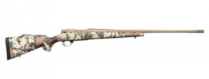 """Weatherby Vanguard First Lite .270 Win Bolt Action Rifle 26"""" Barrel 5 Rounds with Accubrake First Lite Fusion Camo Synthetic Stock FDE Cerakote Finish VFN270NR6B"""