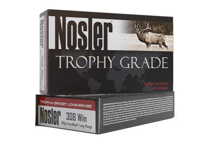 Nosler Trophy Grade LR .308 Win Ammunition 20 Rounds 168 Grain AccuBond Bullet 2750fps 60101