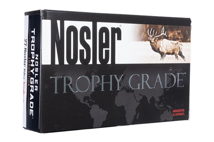Nosler Trophy Grade Ammunition 27 Nosler 150 Grain AccuBond Box of 20 61026