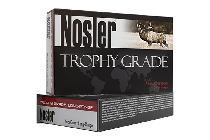 Nosler Trophy Grade Ammunition 27 Nosler 165 Grain AccuBond Long Range Box of 20 61237