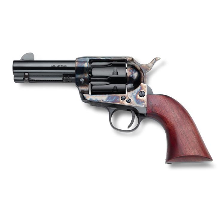 """EMF SHERIFF HGR 357 MAG 3.5"""" BBL CASE HARDENED BLUE WALNUT GRIP EMFGHF357CH312NM"""