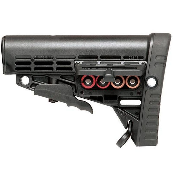 Command Arms Accessories AR-15 Collapsible Buttstock Mill Spec with Storage Polymer Black CBSM