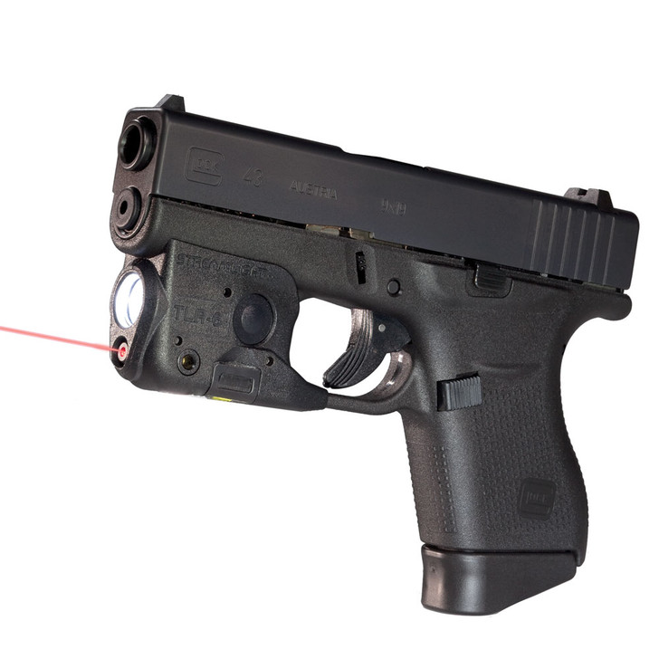 Glock G43 9mm Sub-Compact 6-Round Pistol With StreamLight TLR6 Light and Laser PI4350201