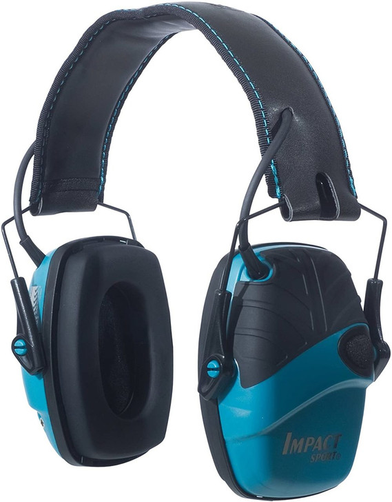Howard Leight by Honeywell Impact Sport Sound Amplification Electronic Shooting Earmuff Teal R-02521