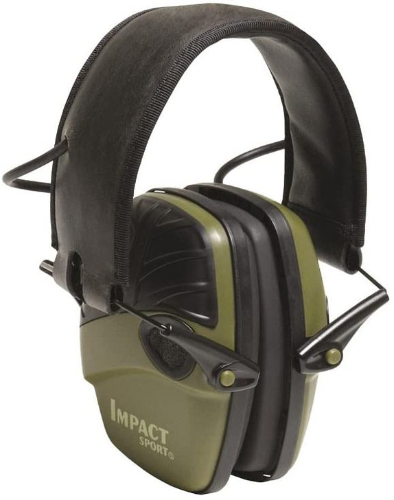 Howard Leight by Honeywell Impact Sport Sound Amplification Electronic Shooting Earmuff Hunter Green  R-01526