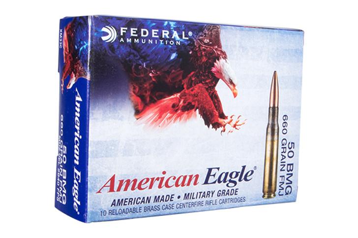 Federal American Eagle .50 BMG 660 Grain FMJ 10 Rnd Box XM33C