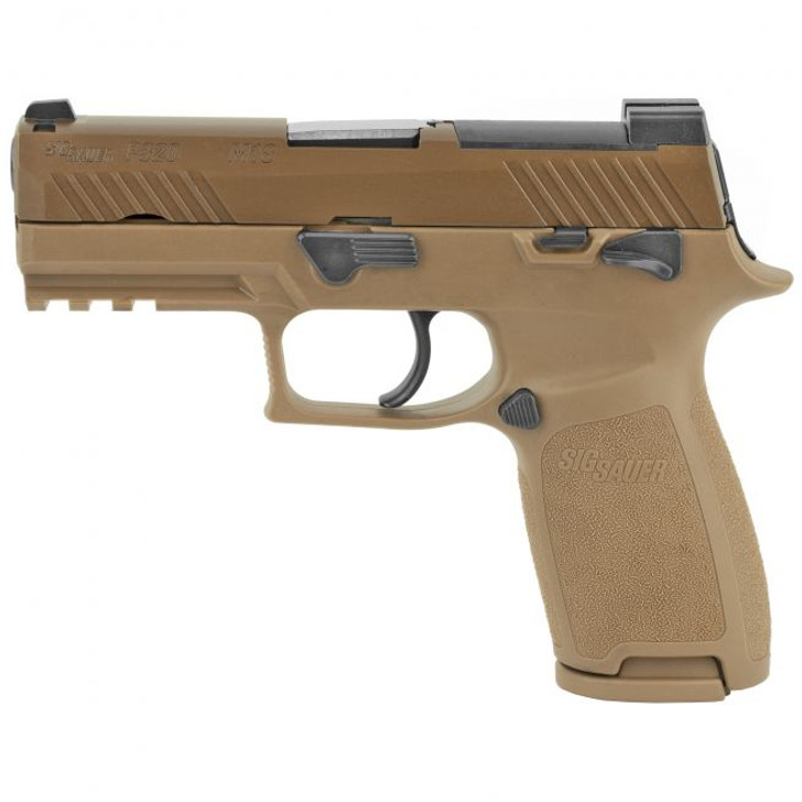 """Sig Sauer P320 M18 9mm 3.9"""" Barrel Coyote PVD Finish 21+1 Rounds 320CA-9-M18-MS"""