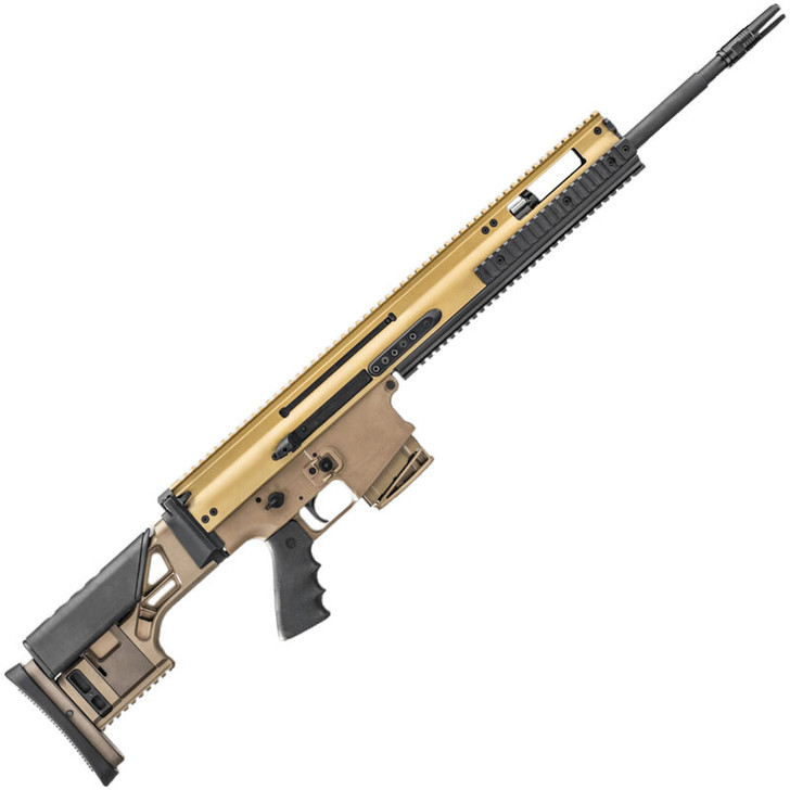 "FN SCAR 20S 7.62X51mm | .308 Win Semi Auto Rifle 20"" Barrel 10 Rounds Ambidextrous Controls Monolithic Upper Receiver Adjustable Fixed Stock FDE Finish 38996"