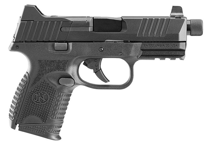 """FNH - FN 509 Compact Tactical, 4.32"""" Barrel, Optic Mounting System, Blk, 12-rd 15-rd 24-rd Mags 66-100782"""