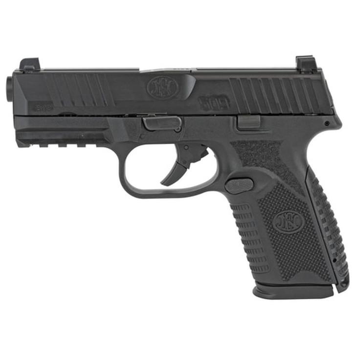 """FNH FN 509 Midsize Double 9mm, 4"""" Barrel, Black Frame, Black Slide,  2 15rd Mags 66-100463"""