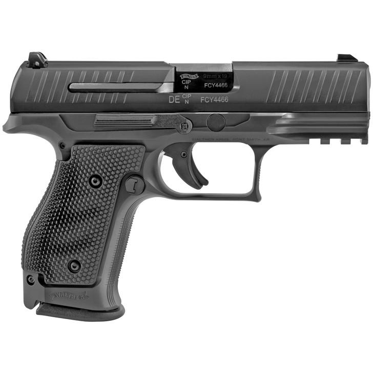 """WALTHER PPQ Q4 SF Semi-automatic Striker Fired Full Size 9MM 4"""" Barrel Steel Frame Black Tenifer Finish 3 X 15RD Mags Fixed Sights 2830019"""