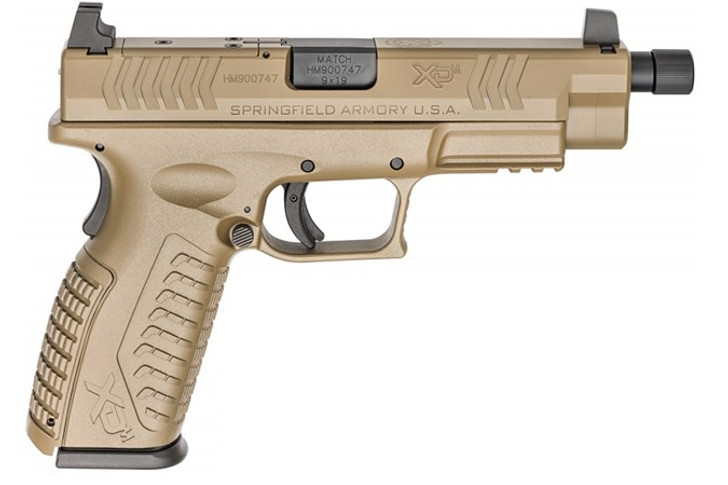 SPRINGFIELD XDM OSP 9MM THREADED BARREL PISTOL, FLAT DARK EARTH - XDMT9459FHCOSP