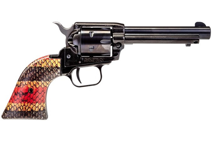 """Heritage Rough Rider Coral Snake .22 LR Single Action Rimfire Revolver 4.75"""" Barrel 6 Rounds TALO Exclusive Coral Snake Skin Synthetic Grips Blued RR22B4-SNK2"""