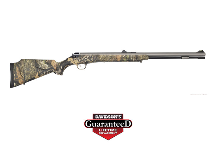 "Thompson/Center IMPACT!SB Break Open .50 Caliber 26"" Single Shot Mossy Oak Break-Up Country Stock Silver Weather Shield Barrel 12286"
