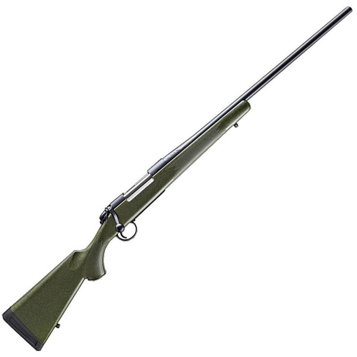 """Bergara B-14 Hunter Bolt Action Rifle 7mm Rem Mag 24"""" Barrel 3 Rounds Green Synthetic Stock Blued Finish  B14LM102"""