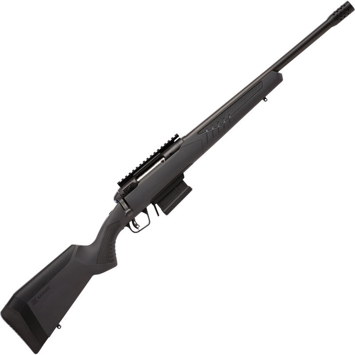 """Savage Arms 110 Wolverine Bolt Action Rifle .450 BM 18"""" 4 RD Synthetic Adjustable AccuStock Black Finish 57140"""